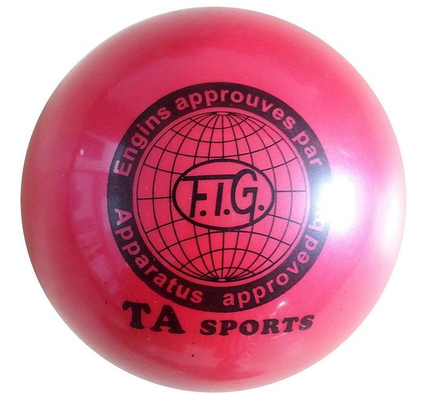 Мяч для художественной гимнастики Indigo D=15 см красный фото