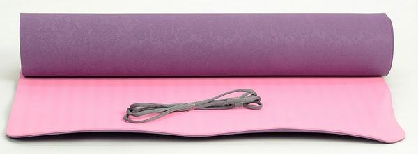 Коврик для йоги HouseFit 1231-40 (173x61x0,5) эспандер грудной housefit dd 6304