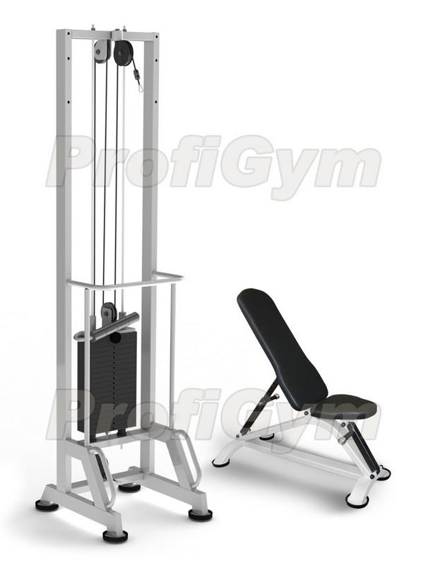 Купить Тренажер для реабилитации ProfiGym стэк 60 кг + скамья Н-ТРБ2200-1-60 (Classic),