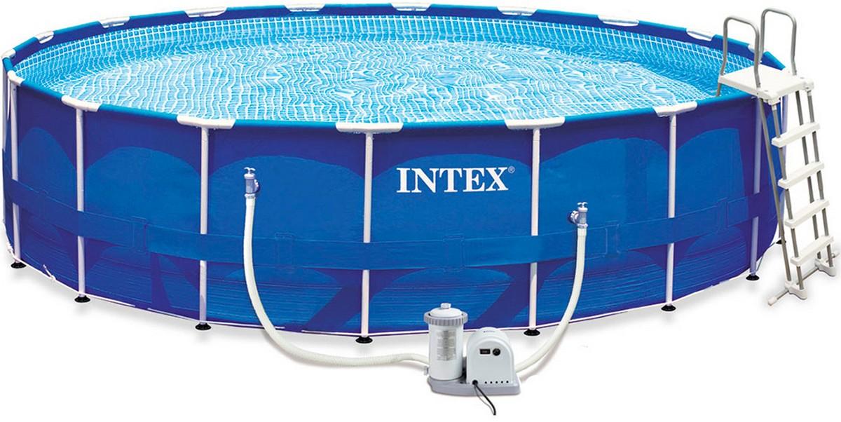 Бассейн каркасный 549х122 см Intex 28252 intex intex каркасный бассейн с металлическим ободком 366х76 см