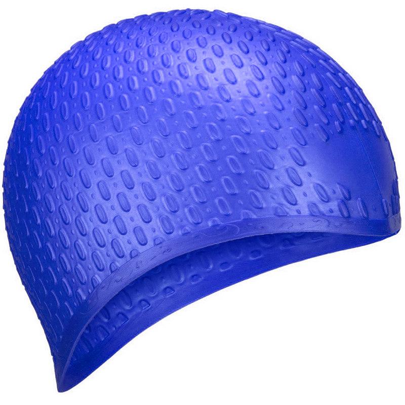Купить Шапочка для плавания силиконовая B31519-1 Bubble (Синий), NoBrand