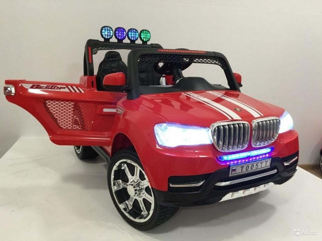 Купить Электромобиль River-Toys BMW с ДУ 4x4 T005TT красный, Детские электромобили