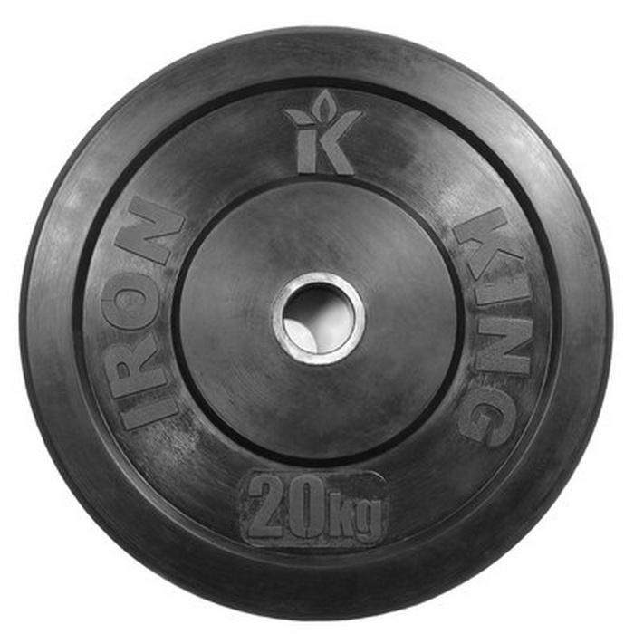 Купить Диск для кроссфита Iron King (бампер) черный D50 мм 20 кг CR 205,