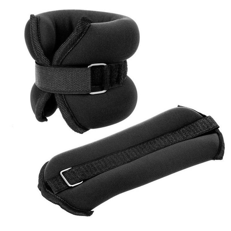Купить Утяжелители (2х0,5кг) (нейлон) в сумке (черные) ALT Sport HKAW101-1, NoBrand