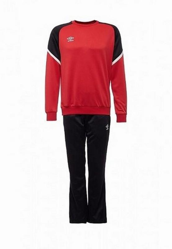 Костюм спортивный Umbro Avante Poly Suit мужской 350217 (261) красн/чер/бел.