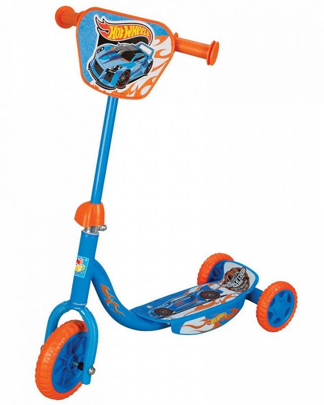 Самокат 1toy Hot Wheels детский 3-х колесный 6 quot;/4 quot; Т57645