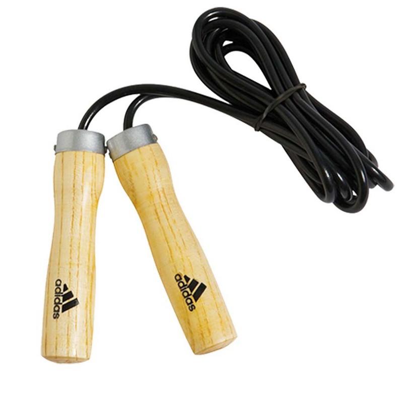 Скакалка Adidas Jump Rope Wooden Handle adiJRW02 скакалка jump ropes 10 15 m15