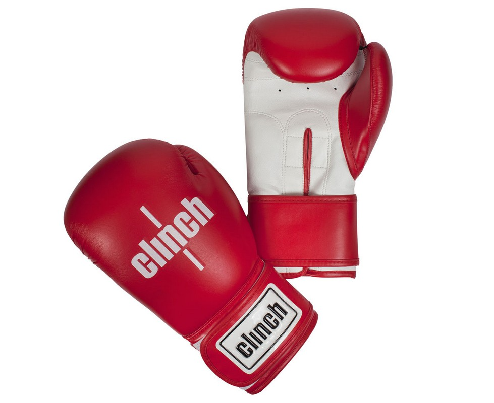 Перчатки боксерские Clinch Fight красно-белые C133