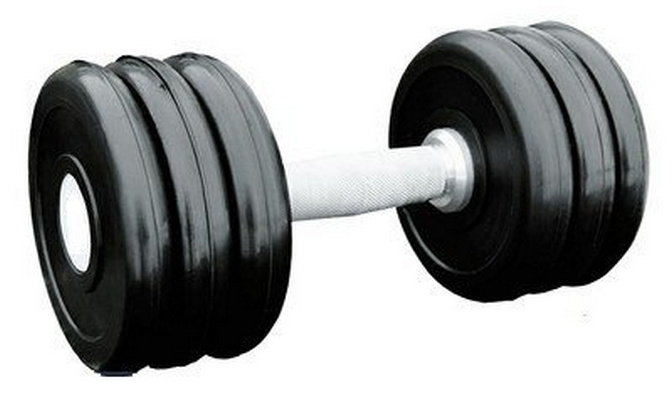 Купить Гантель профессиональная хром/резина 18 кг. Iron King IK 500-18,