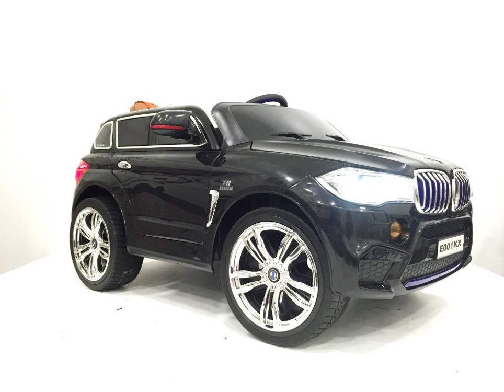 Купить Электромобиль River-Toys BMW X5 E002KX черный с ДУ, Детские электромобили