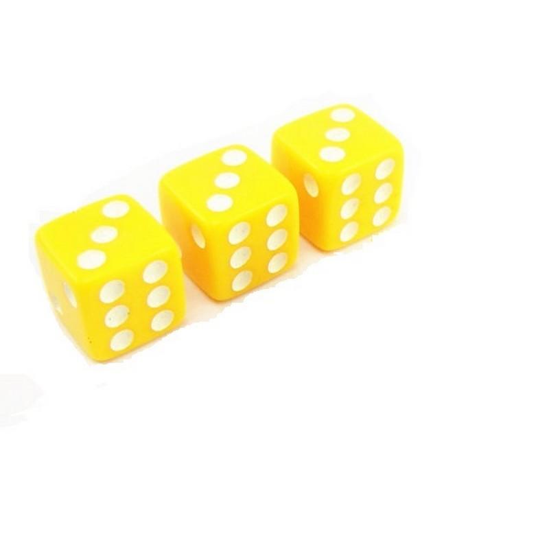 Кости игральные Partida пластиковые, 12 мм, 1шт zar5 желтый