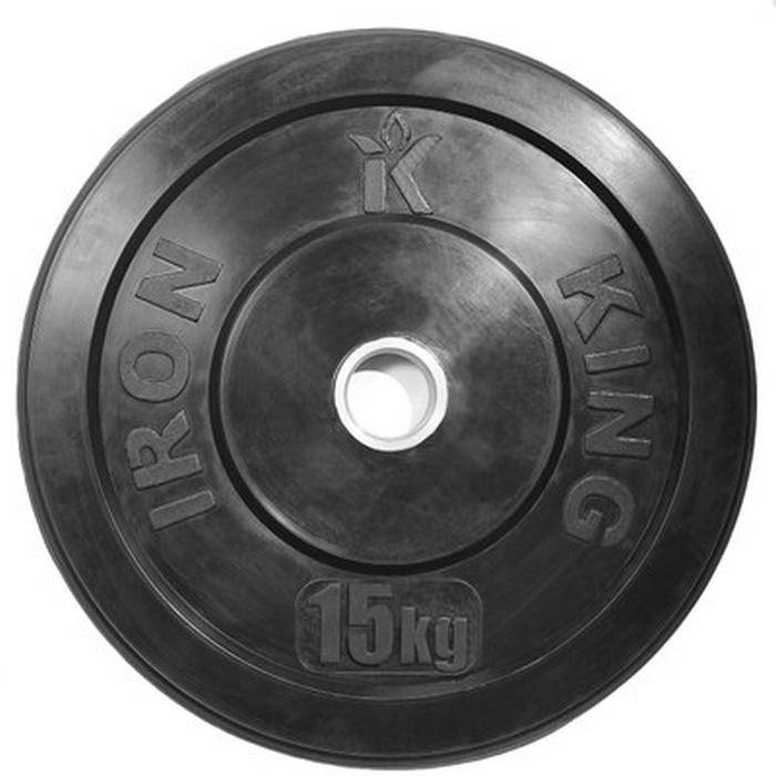 Купить Диск для кроссфита Iron King (бампер) черный D50 мм 15 кг CR 204,