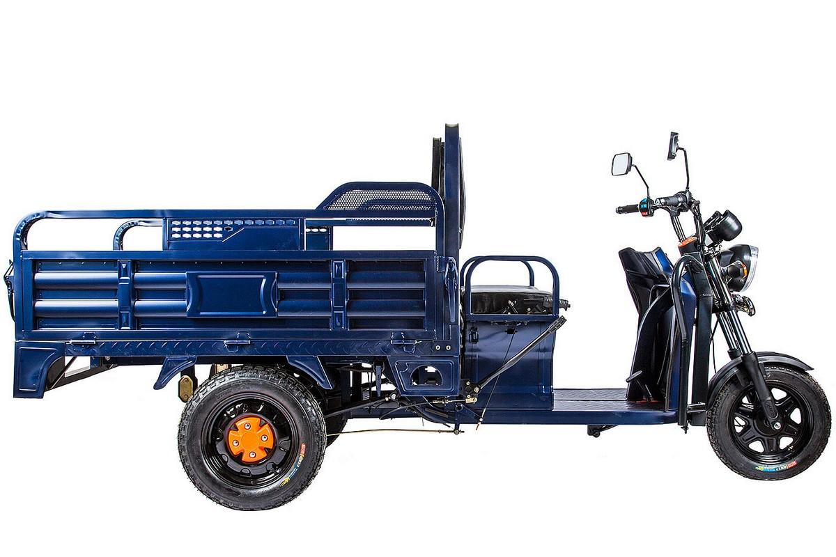 Грузовой электрический трицикл RuTrike D2 1500 60V1000W 021493-1978 синий