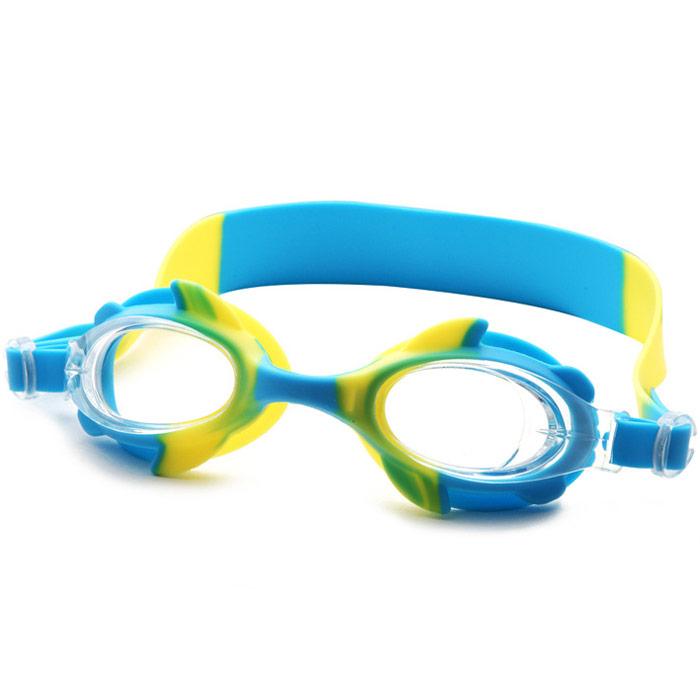 Купить Очки для плавания детские B31570 (голубой-желтый), NoBrand
