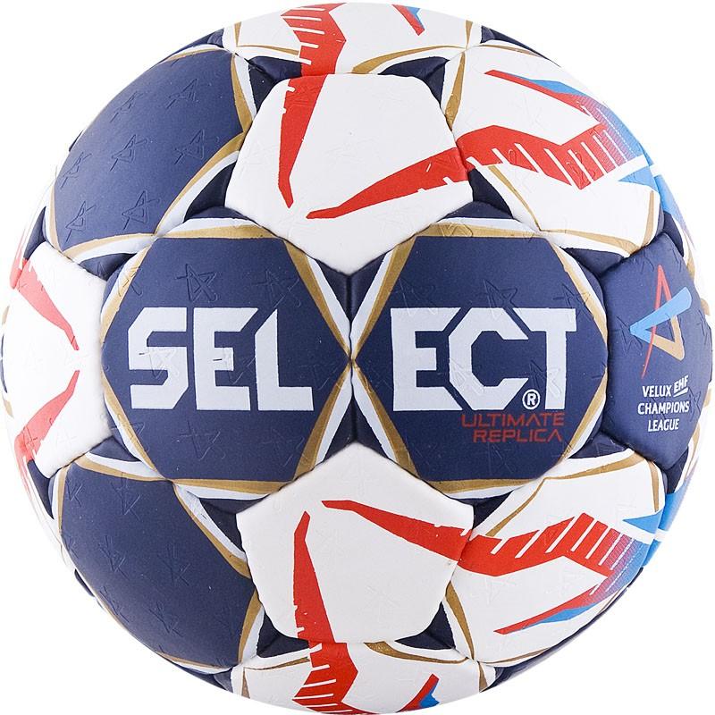 Мяч гандбольный Select Ultimate Replica EHF Junior (р.2) тренировочный, т.син/бел/крас/гол. мяч футзальный select futsal talento 11 852616 049 р 3