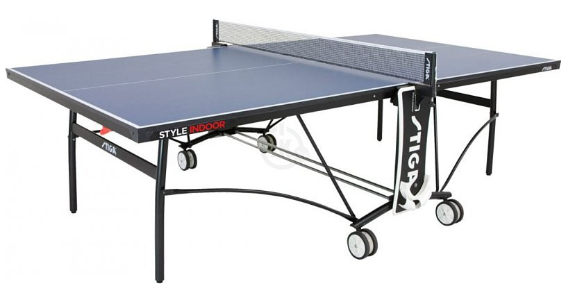 Стол для помещений Stiga Style CS 19 мм сетка с регулировкой нити (синий) 208.7010/St