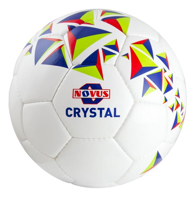 Купить Мяч футбольный Novus Crystal р.3 бело-сине-красный,