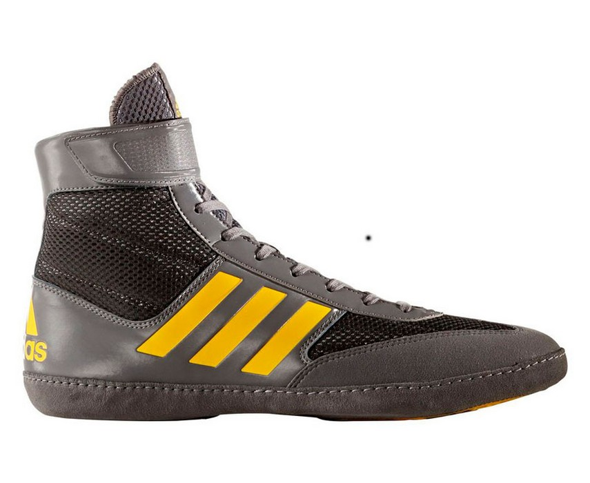 Борцовки Adidas Combat Speed.5 серо-желтые BA8006