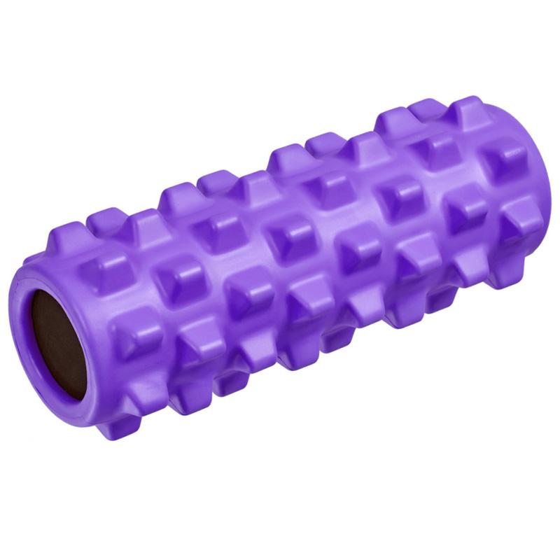 Купить Ролик для йоги полнотелый B33091 (фиолетовый) 33х12см., ЭВА/ПВХ/АБС, NoBrand