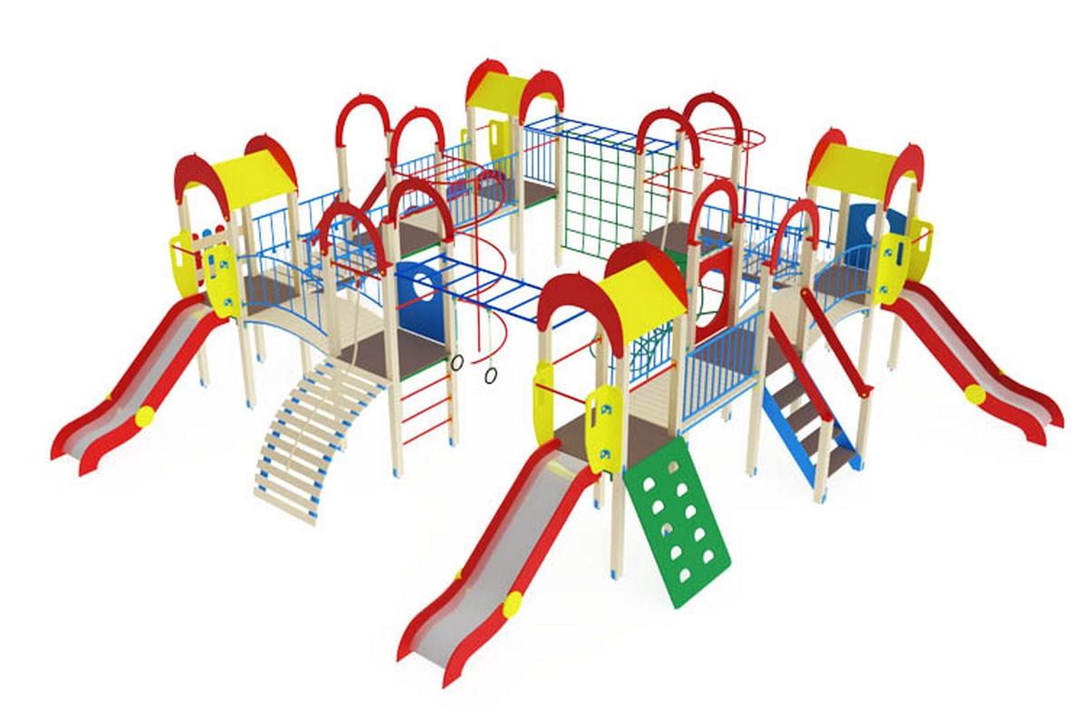 Купить Детский игровой комплекс ОстровдетстваМАФ1103х926х300 см Дик801, МАФ