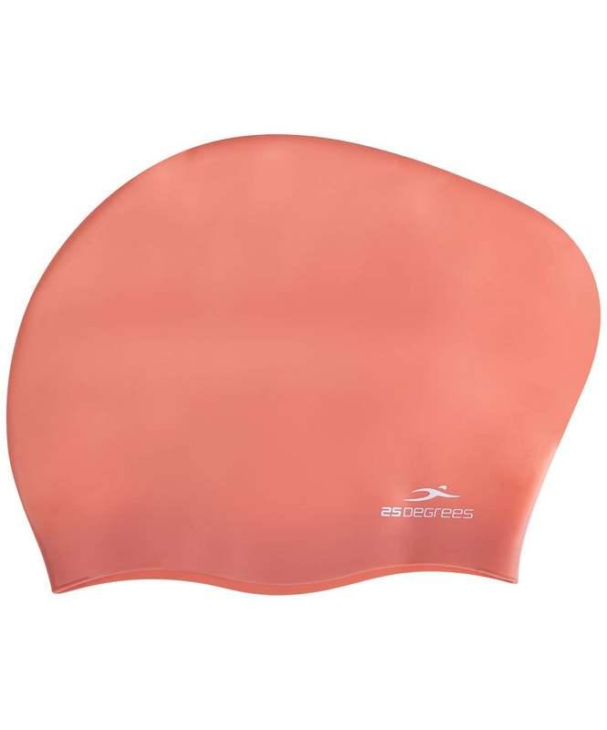 Купить Шапочка для плавания 25DEGREES Mamana Brick Red, силикон, длинных волос,