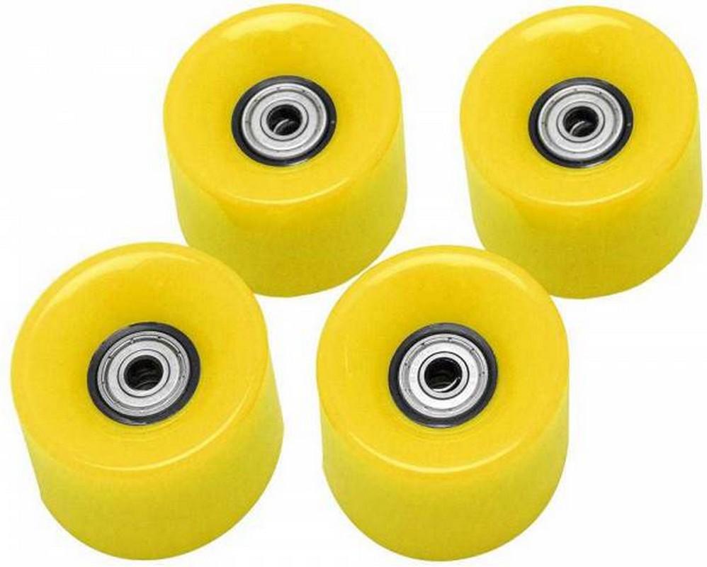 Набор колес для миниборда Atemi AW-18.05 (подшипник ABEC-5) полиуретановые желтые