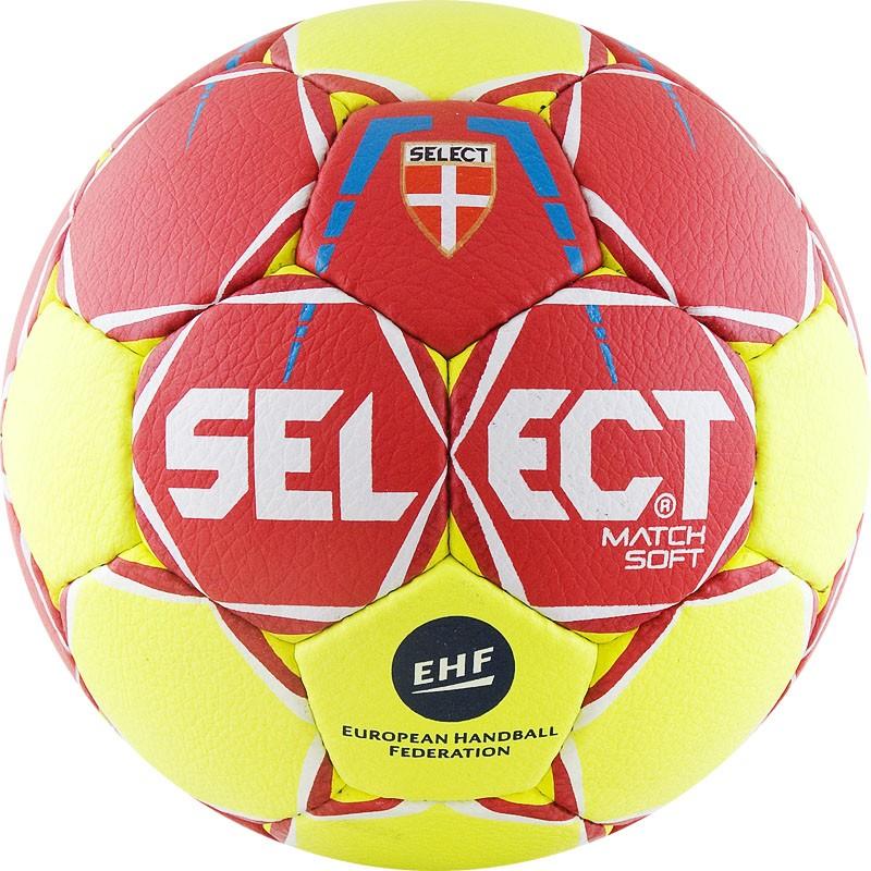 Мяч гандбольный р.3 Select Match Soft 844908-335 мяч футбольный select talento арт 811008 005 р 3