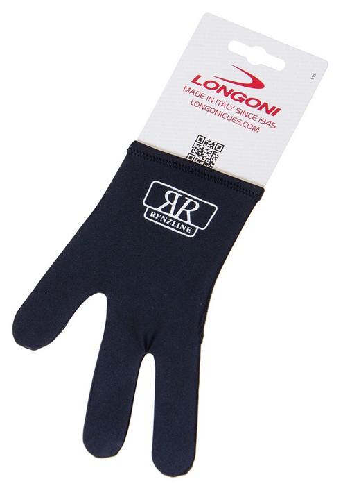 Перчатка бильярдная Longoni RenzLine Nero (черная) 45.308.03.5