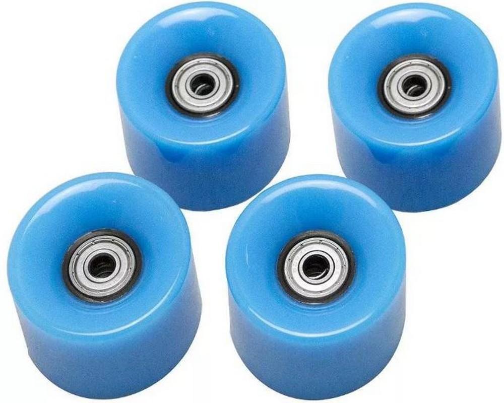 Набор колес для миниборда Atemi AW-18.07 (подшипник ABEC-5) полиуретановые синие