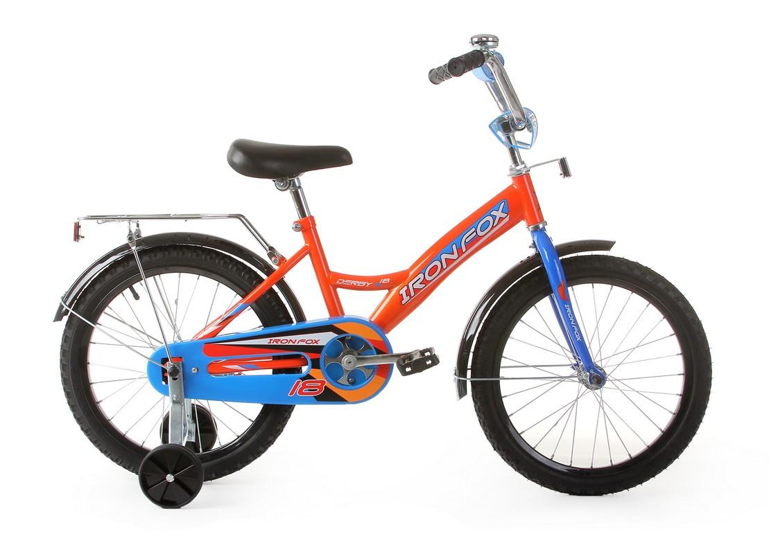 Купить Велосипед детский Iron Fox Derby 18 1ск, (19, 18 ) оранжевый,