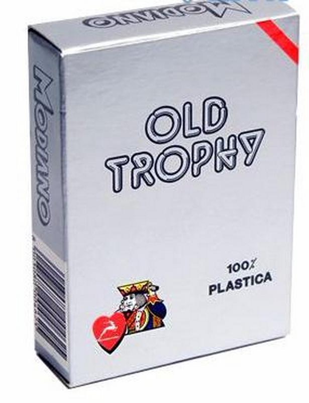 Карты для покера Modiano Old Trophy 100% пластик, красная рубашка