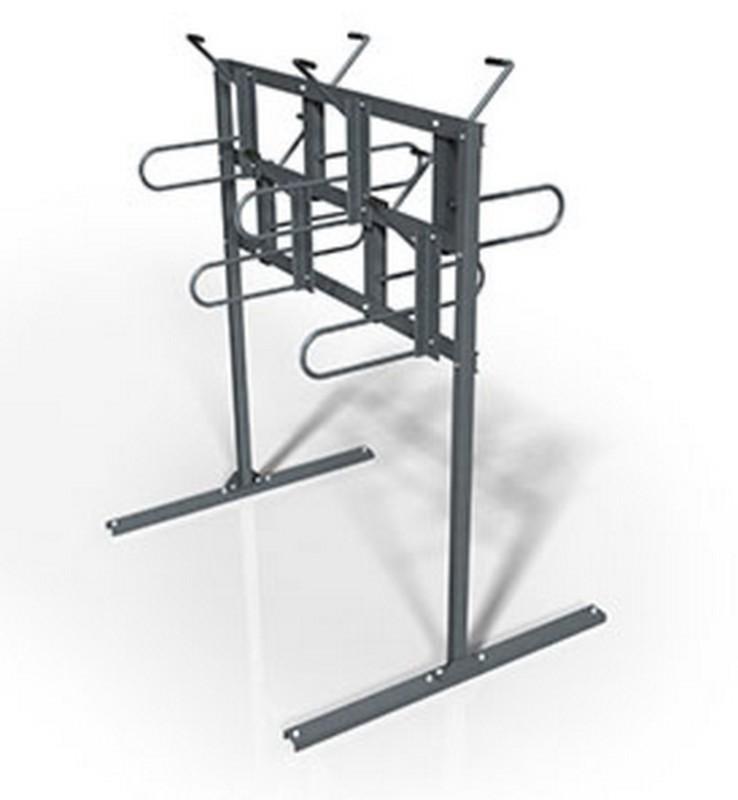 Купить Стеллаж для вертикального хранения велосипедов двухсторонний Hercules 4933,