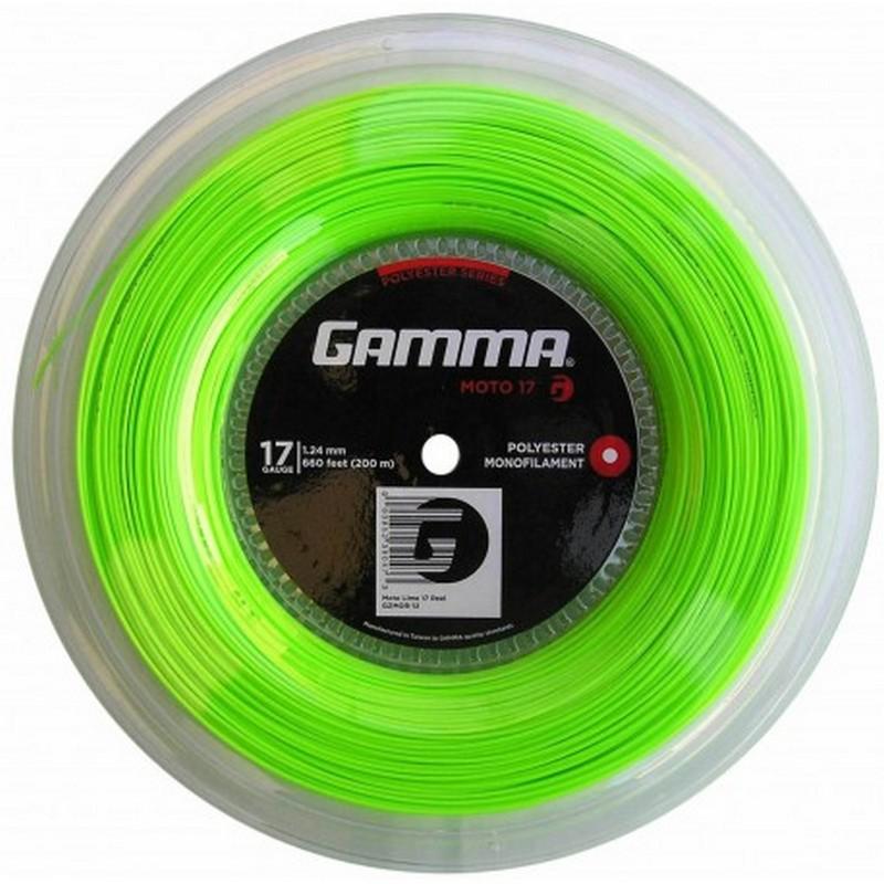 Теннисные струны Gamma Moto 17 (lime) 200 м