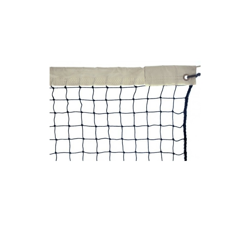 Сетка для большого тенниса ?=2,2 мм, зелёная, обшитая капроном с 1-й стороны М367Т