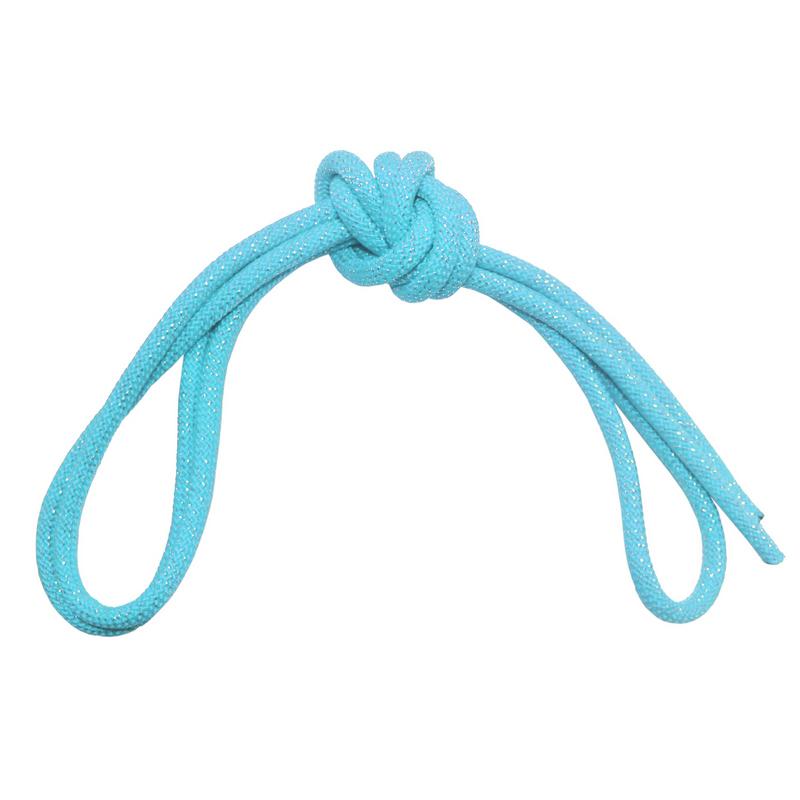 Скакалка гимнастическая с люрексом Body Form BF-SK04 (BF-JRGL01) 3м, 180гр (голубой)