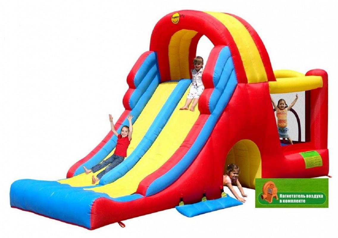 Детский надувной Игровой Центр Happy Hop Мега-горка 9082N