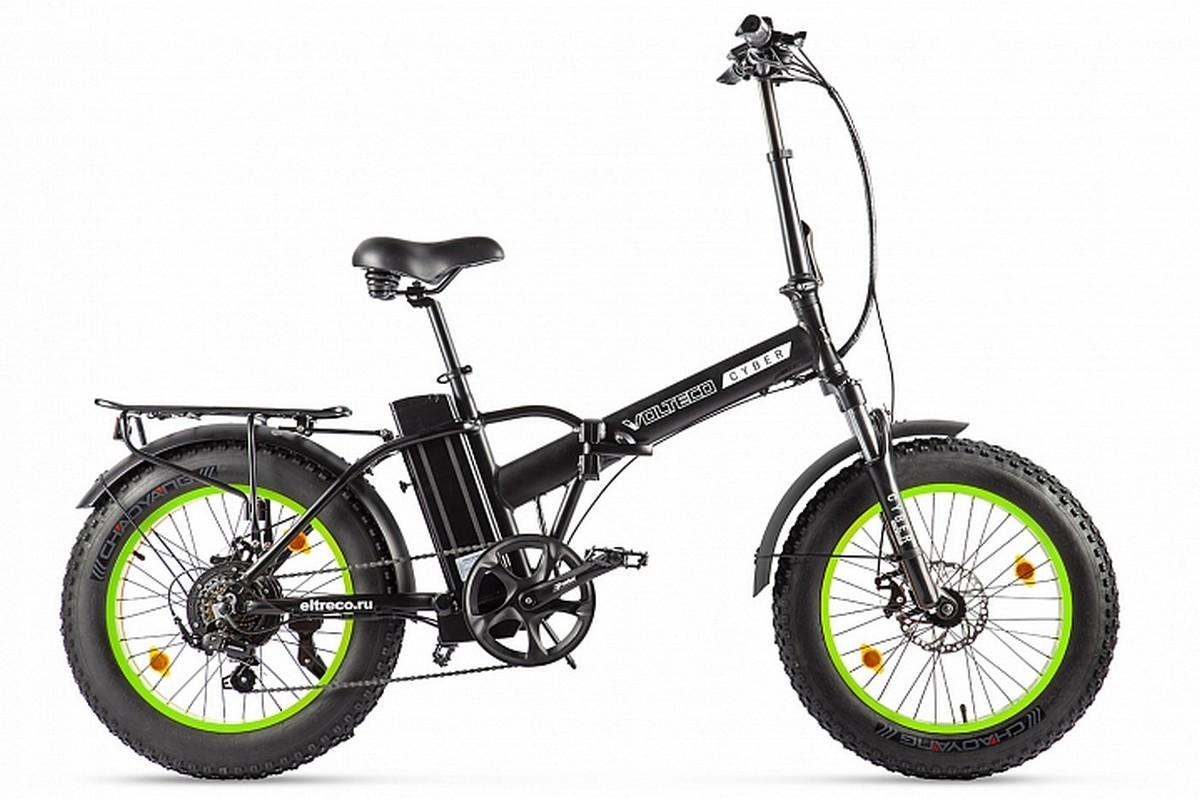 Велогибрид Volteco Cyber 022303-2169 черно-салатовый