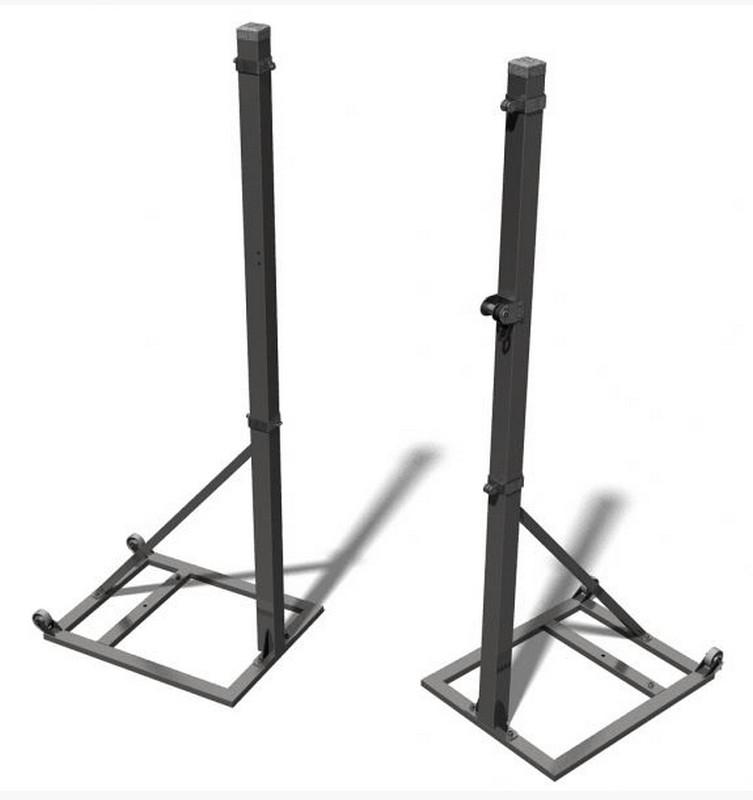 Стойки волейбольные Pesmenpol стальные с механизмом натяжения 2 шт.