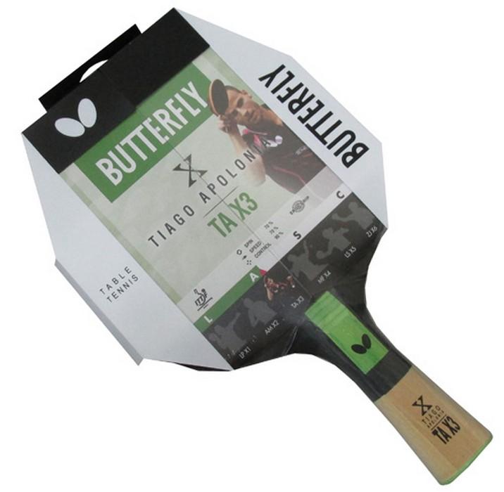 Ракетка для настольного тенниса Butterfly Tiago Apolonia TAX3, AN