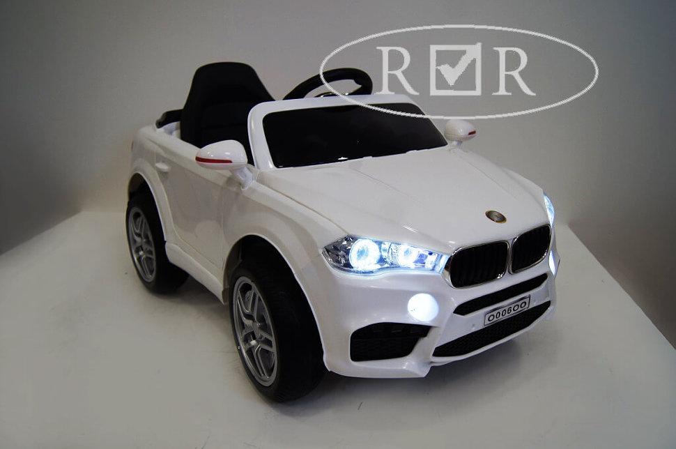 Электромобиль River-Toys BMW O006OO VIP белый с ДУ