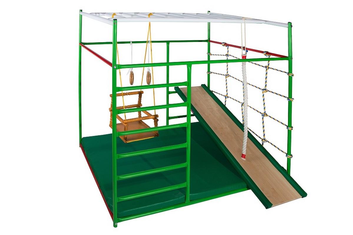 Детский спортивный комплекс КМС Муравейник 2 + с горкой спортивные комплексы kms sport кольца гимнастические дерево