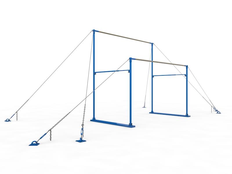 Брусья гимнастические женские разновысокие на растяжках Glav 04.104 от Дом Спорта