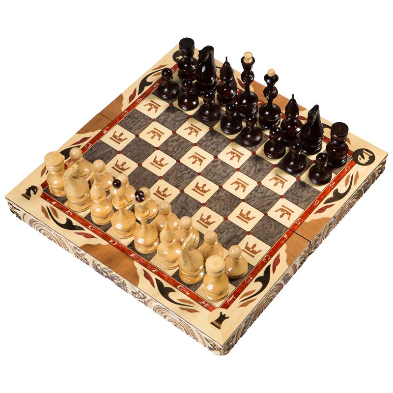 Шахматы резные ручной работы С Гербом средние slchess50 шахматы резные ручной работы дорожные