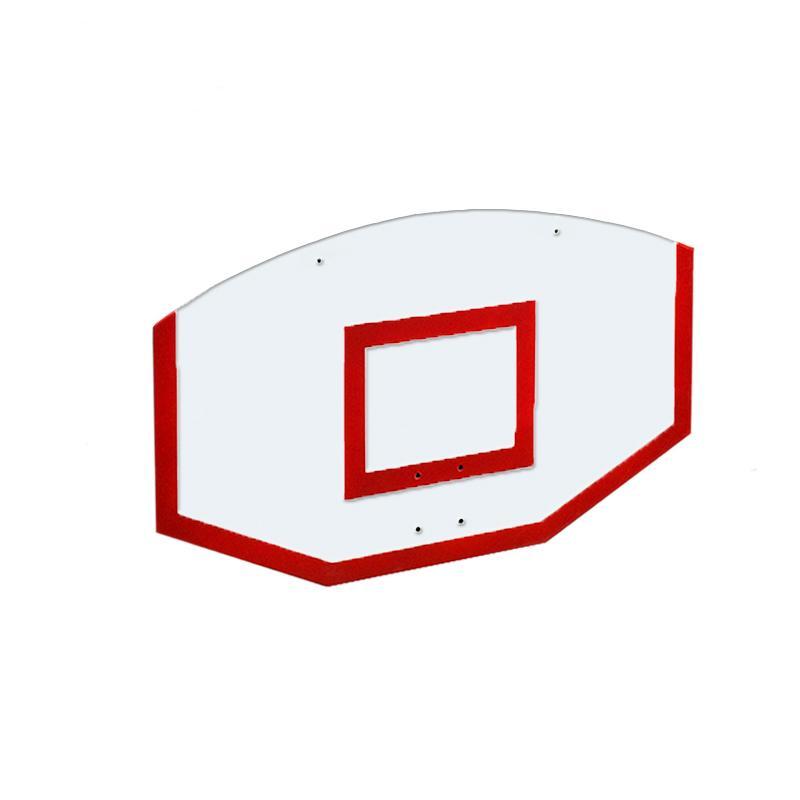 Купить Щит стритбольный 120х75 поликарбонат (разметка красная) Dinamika ZSO-002113,
