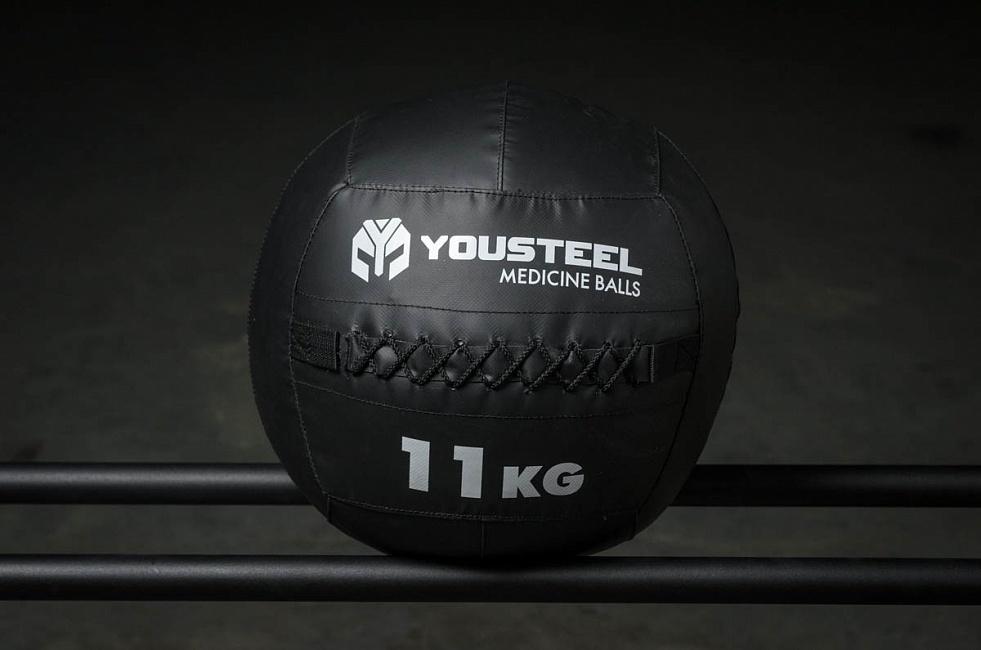 Медбол 11кг, со шнуровкой YouSteel, YouSteel  - купить со скидкой