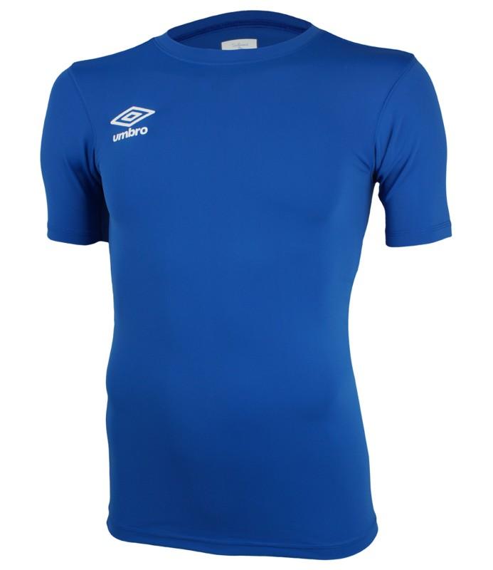 Футболка тренировочная Umbro FW SS Crew base layr мужская (030) синяя