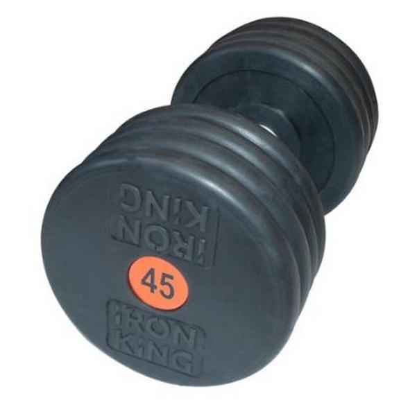 Купить Гантель профессиональная хром/резина 45 кг. Iron King IK 500-45,