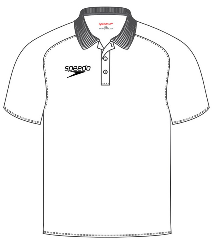 Футболка-поло Speedo Dry Polo Shirt white мужская (0003) белая