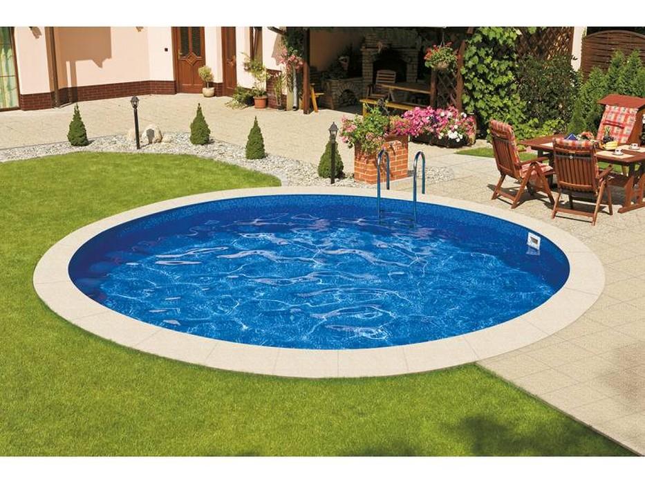 Купить Морозоустойчивый бассейн Ibiza круглый глубина 1,2 м диаметр 4 м, мозайка,