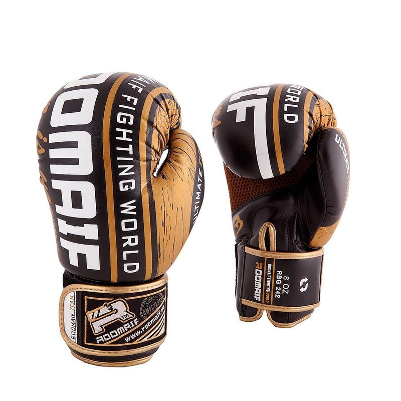 Боксеркие перчатки Roomaif RBG-242 Dx Gold 10 oz,  - купить со скидкой